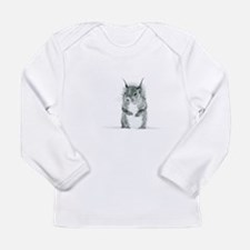 Cute Squirrel Drawing Long Sleeve T-Shirt
