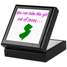 you can take girl out of Jersey pink  Keepsake Box