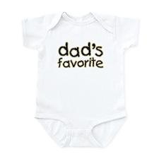 Funny Humorous Dad's Favorite Infant Bodysuit