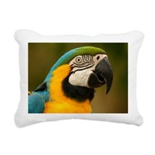 Cute Blue and gold macaw Rectangular Canvas Pillow
