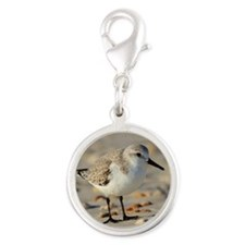 Sand Piper and Seashells Charms