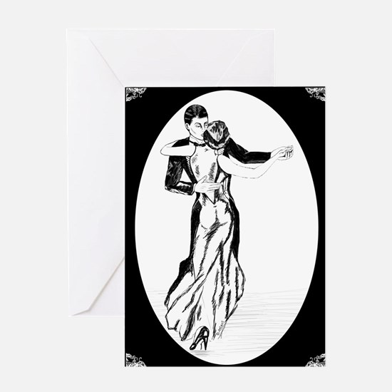 Women Waltzin Greeting Cards