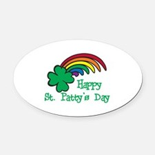 Happy St Pattys Day Oval Car Magnet