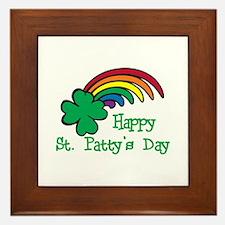 Happy St Pattys Day Framed Tile