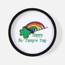 Happy St Pattys Day Wall Clock