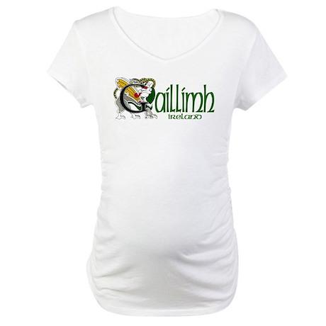 Galway Dragon (Gaelic) Maternity T-Shirt