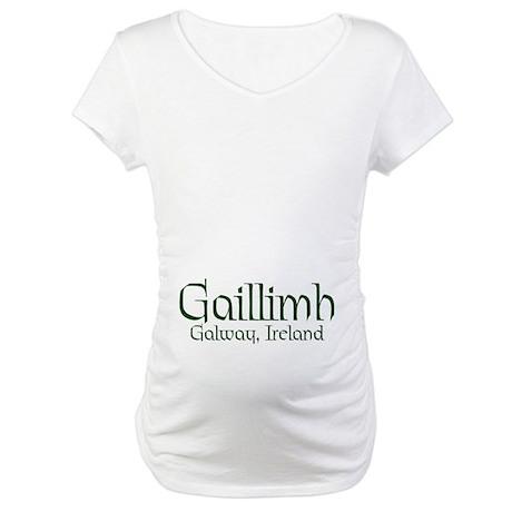County Galway (Gaelic) Maternity T-Shirt