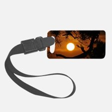 Full Moon at Sunset Luggage Tag