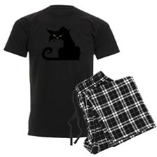 Angry Pissed Off Black Cat pajamas