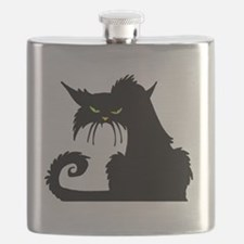 Angry Pissed Off Black Cat Flask