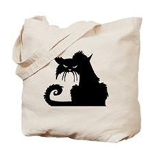 Angry Pissed Off Black Cat Tote Bag