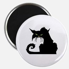 Angry Pissed Off Black Cat Magnet