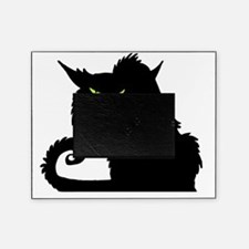 Angry Pissed Off Black Cat Picture Frame
