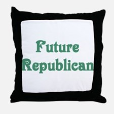 Future Republican Maternity Throw Pillow