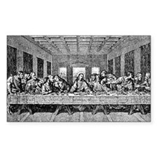 Last Supper Etching Rectangle Decal