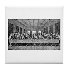 Last Supper Etching Tile Coaster