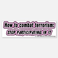 Combat terrorism (bumper sticker)