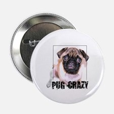 Pug Crazy - Button
