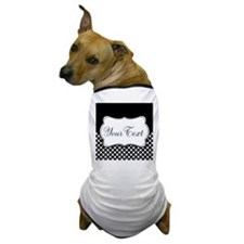 Personalizable Black and White Dog T-Shirt