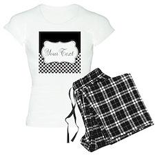 Personalizable Black and White Pajamas