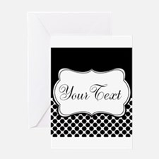 Personalizable Black and White Greeting Cards