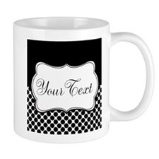 Personalizable Black and White Mugs