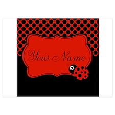 Personalizable Ladybug Polk Dots Invitations