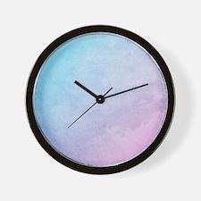 Unique Pastel wall Wall Clock