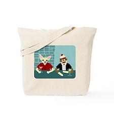 Chihuahua & Sock Monkey Martini Tote Bag