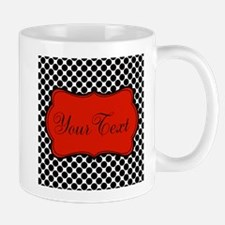 Red Black White Personalized Mugs