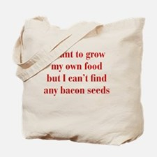 bacon-seeds-bod-red Tote Bag