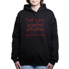 bacon-seeds-jel-red Women's Hooded Sweatshirt