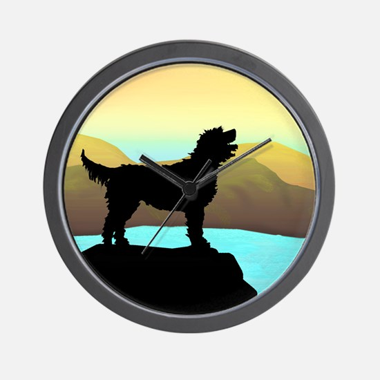 Labradoodle By The Sea Wall Clock