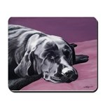 Black Labrador Beauty Sleep Mousepad