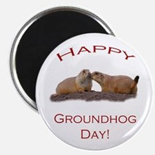 Groundhog Day Kiss Magnets