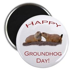 Groundhog Day Kiss Magnets