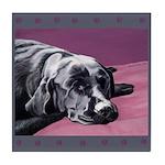 Black Labrador Beauty Sleep Tile Coaster
