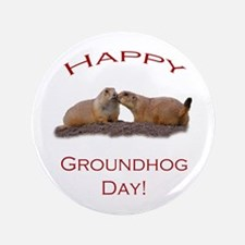 "Cute Groundhog 3.5"" Button (100 pack)"
