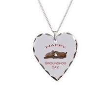 Unique Groundhog day Necklace