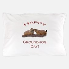 Funny Groundhog Pillow Case