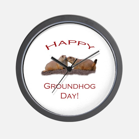Unique Groundhog day Wall Clock