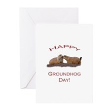 Groundhog Day Kiss Greeting Cards