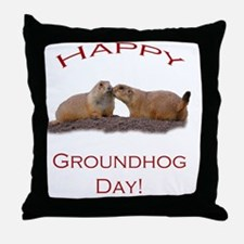 Cute Groundhog day Throw Pillow