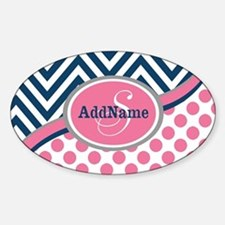Bold Chevron Dots and Monogram Decal