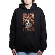 Unique Black headed tri corgi Women's Hooded Sweatshirt
