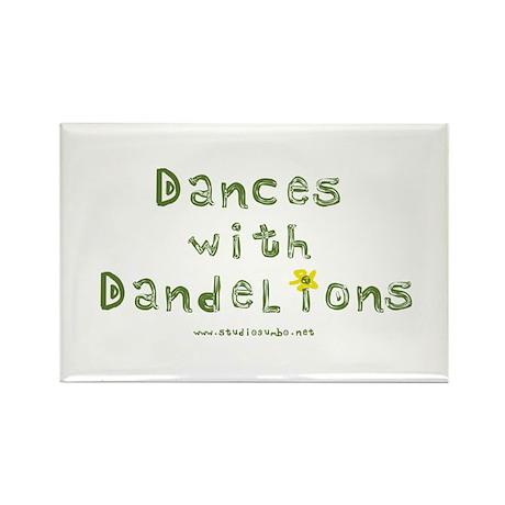 Dandelion Dancer Gardener Rectangle Magnet