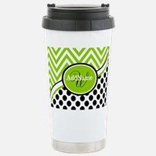 Monogrammed Chevron Pol Travel Mug