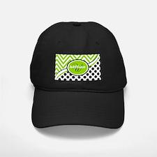 Monogrammed Chevron Polka Dots Baseball Hat