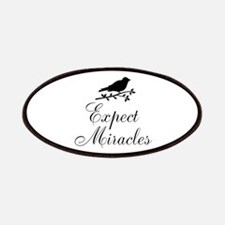 Expect Miracles Black Bird Patches