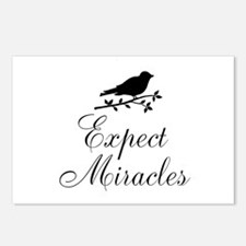 Expect Miracles Black Bird Postcards (Package of 8